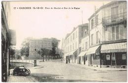 GARCHES 1910 Place Du Marché Et Rue De La Plaine - Garches