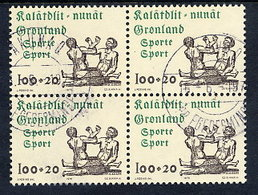 GREENLAND 1976 Sports Fund In Used Block Of 4,  Michel 97 - Greenland