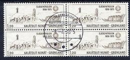 GREENLAND 1975 Sirius Sledge Patrol In Used Block Of 4,  Michel 95 - Greenland