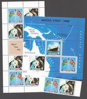 Solomon Islands 1982 Mi# 474-75+ Bl.11** VISIT OF QUEEN ELIZABETH II AND PRINCE PHILIP - Salomon (Iles 1978-...)
