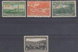 Luxemburg 1921 + 1928 4v ** (= Mint, Hinged) (40861) - Ongebruikt
