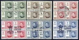GREENLAND 1973-77 Definitive Inscribed Kalatdlit Nunat In Used Blocks Of 4. - Greenland