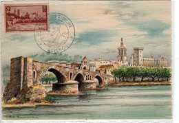 Carte Maximum Avec N°391 Avignon Oblitérée Journée Du Timbre 1954 Editions BD 2131 C - 1930-39
