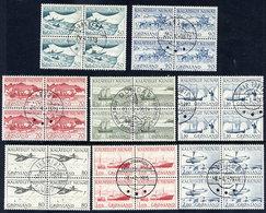 GREENLAND 1971-77 Definitive: Postal Transport In Used Blocks Of 4. - Greenland