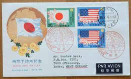 Japan FDC 1975,  Royal Visit To USA, USA-Reise Des Kaiserpaares, Michel 1270 - 1271 (2173) - FDC