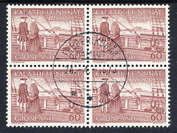 GREENLAND 1971  250th Anniversary Of Arrival Of European Settlers In Used Blocks Of 4.  Michel 77-78 - Greenland