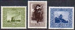 Liechtenstein 1951: Gemälde Der Fürstlichen Galerie (II) Zu W24-26 Mi 301-303 Yv 263-265 * MLH (Zumstein CHF 45.00 - 50) - Liechtenstein