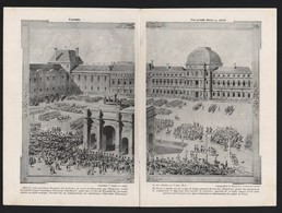 Photo Reportage 1908 5 Pages NAPOLEON 1er Empereur La Revue Palais Des Tuilleries De 1810 Dessin De Georges Scott - Pubblicitari