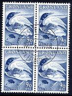 GREENLAND 1967 Greenland Sagas IV In Used Block Of 4.  Michel 68 - Greenland