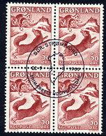 GREENLAND 1966 Greenland Sagas III Block Of 4.  Michel 66 - Greenland