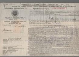 Charente To Calcutta 5Ind)  : Connaissement 1914 ... 65 Package Merchandize    (CAT 1183) - Transport