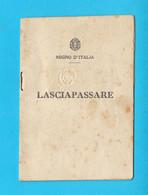 WW2 - LASCIAPASSARE - ITALY OCCUPATION DALMATIA 1942. Laissez-passer Passport Passeport Reisepass Pass Passaporto Italia - Historical Documents
