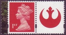 GB Machin Stamp - NVI 1st Class Red With Label - From Star Wars Prestige Booklet UM/MNH - 1952-.... (Elizabeth II)