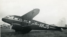 Royaume Uni Avion De Havilland Dragon Rapide G-AKJS Aviation Ancienne Photo 1940 - Aviation