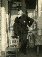 France Lille Homme En Uniform Pensif Scene De Fantaisie Ancienne Photo 1960 - Anonymous Persons