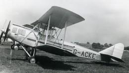 Royaume Uni Avion Avro Avian Mk IV G-ACKE Aviation Ancienne Photo 1930's - Aviation