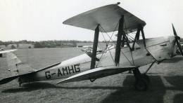 Royaume Uni Avion De Havilland Tiger Moth G-AMHG Aviation Ancienne Photo 1940 - Aviation