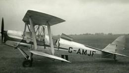 Royaume Uni Avion De Havilland Tiger Moth G-AMJF Aviation Ancienne Photo 1940 - Aviation