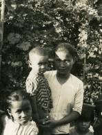 Vietnam Saigon Scene De Rue Famille Mere? Et Enfants Old Photo 1935 - Anonymous Persons
