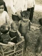 Vietnam Saigon Scene De Rue Enfants Bebes Garcons Et Filles? Old Photo 1935 - Anonymous Persons