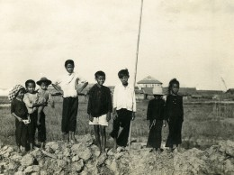 Vietnam Saigon Groupe De Jeunes Enfants Garcons Et Filles Old Photo 1935 - Anonymous Persons
