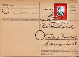 Germany / Saar Used Postcard From 1957 - 1957-59 Federation