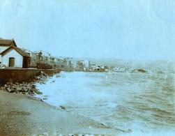 France La Ciotat Scene De Bord De Mer Boulevard De La Tasse Ancienne Photo 1900 - Places