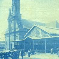 France Bretagne Brest Marche Couvert Et Eglise Ancienne Photo Cyanotype 1900 - Places