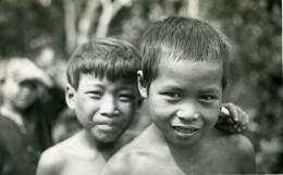 Vietnam Saigon Scene De Rue Enfants Annamites Jeunes Garcons Portrait Old Photo 1935 - Anonymous Persons