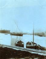 France La Ciotat Scene De Bord De Mer Bateaux Voiliers Ancienne Photo 1900 - Places