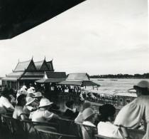 Cambodge Phnom Penh Regate Sur Le Mekong Spectateurs Old Photo 1935 - Places