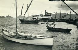 Vietnam Saigon Baie De Cam Ranh Bateaux Voiliers Old Photo 1935 - Places