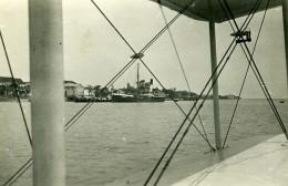 Vietnam Saigon Baie De Cam Ranh Vue D'un Hydravion? Vapeur Verdun Old Photo 1935 - Places