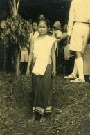 Vietnam Saigon Scene De Rue Enfants Jeune Fille Old Photo 1935 - Anonymous Persons