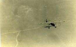France Avion Voisin Militaire En Vol Mitrailleuse WWI Ancienne Photo 1914-1918 - Aviation