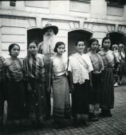Vietnam Saigon Femmes Tonkinoises Homme Barbu Old Modern-Photo 1935 - Anonymous Persons