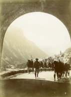 France Alpes Tunnel De La Grave Chasseurs Alpins 30e Bataillon Ancienne Photo 1901 - Guerra, Militari
