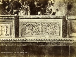 Italie Venise Lion Ornement Basilique Cathédrale Saint-Marc Ancienne Photo 1890 - Photographs