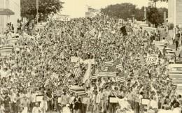 USA Austin Manifestation Antimilitariste Guerre Du Vietnam Ancienne Photo 1970 - Places