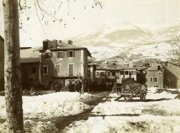 France Hautes Alpes Embrun Chasseurs Alpins Marche D'Hiver Ancienne Photo 1901 - War, Military