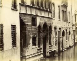 Italie Venise Vieille Demeure Au Bord Du Canal DaPonte Ancienne Photo 1890 - Photographs