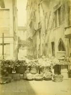 Italie Venise Scéne Animée Marchande De Légumes Marche Ancienne Photo 1890 - Photographs