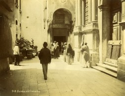 Italie Venise Scuola Grande Dei Carmini Animation Ancienne Photo 1890 - Photographs