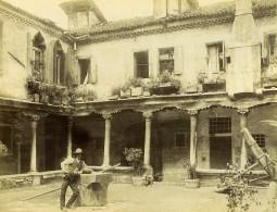 Italie Venise Cour Intérieure Maison Ancienne Ancienne Photo Brusa 1890 - Photographs