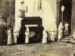 Italie Naples Sorrente? Convoi Napolitain Religion Procession De Paques? Ancienne Photo 1890 - Photographs