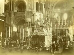 Italie Venise Basilique Cathédrale Saint-Marc Catafalque Ancienne Photo 1890 - Photographs