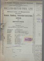 Bordeaux, Rotterdam To Bombay   : Connaissement 1934  ..23 Caisses  (CAT 1191) - Transport