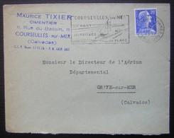 Courseulles Sur Mer Maurice Tixier Cimentier  (Calvados) - Marcofilia (sobres)