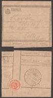 TELEGRAPH TELEGRAM 1945 Hungary - Close Label Vignette / Pécs - Sellye - Baranya - Télégraphes