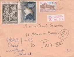Le Mans République 1969 - Recommandé Avec étiquette De Recommandation - 1961-....